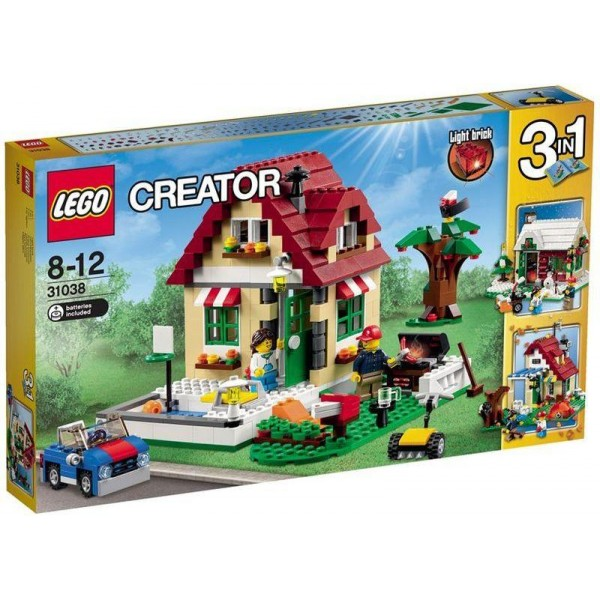LEGO Creator - House 3 Seasons (31038) + Cadou Minge jumper ball spin pop catch