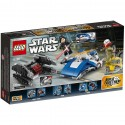 LEGO Star Wars A-Wing Contra TIE Silencer Microfighters (75196)