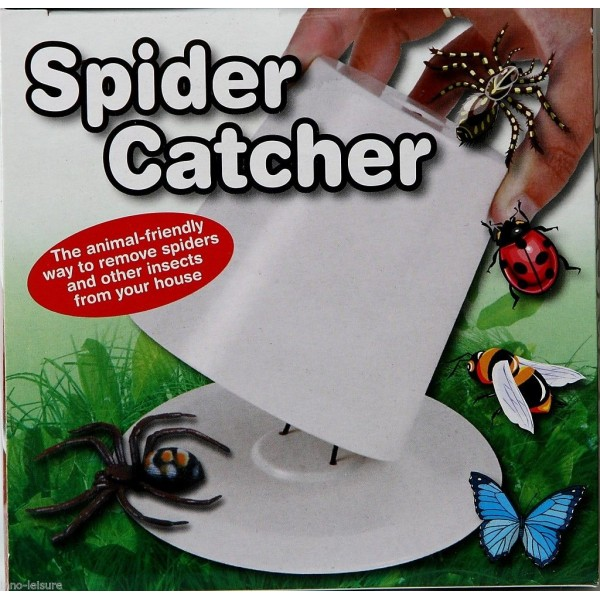New SPIDER CATCHER Trap Pest Indoor Creep Insect Bugs Crawlies Household