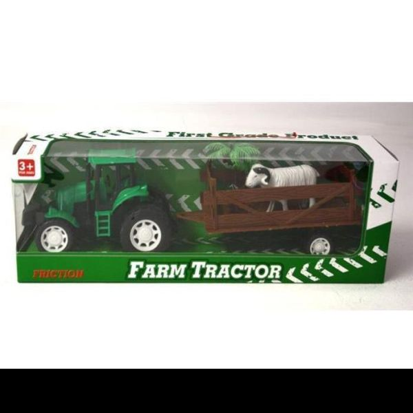 Farm tractor with trailer